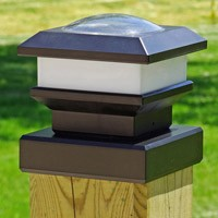 solar fence post light cap
