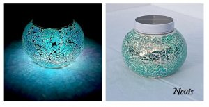 turquoise table light