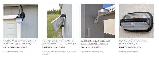 wall mounted solar lights